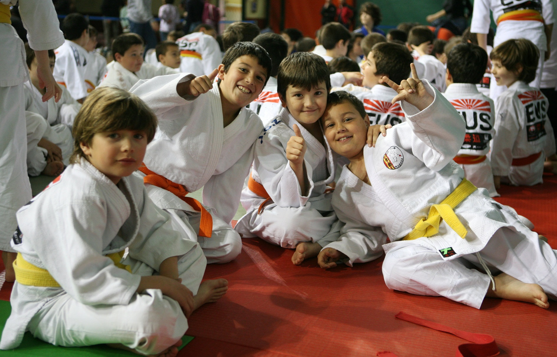 Kids in Judo Gi
