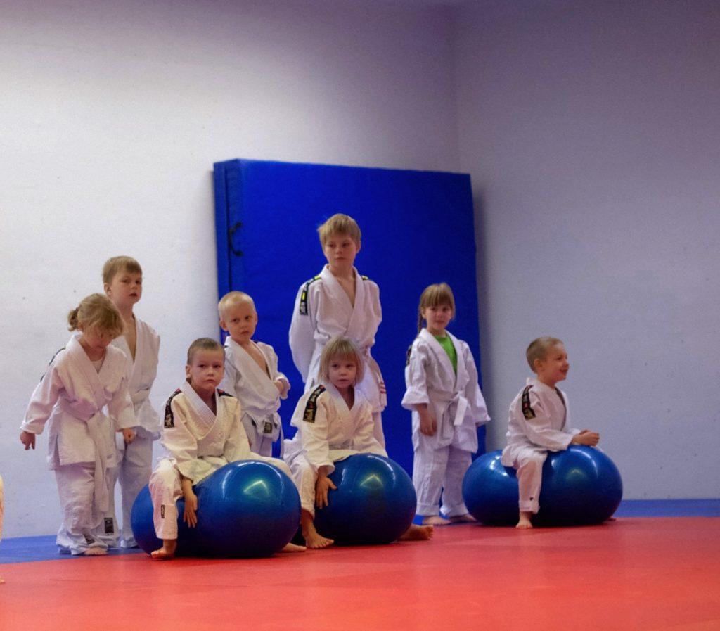 Kids in Judo class