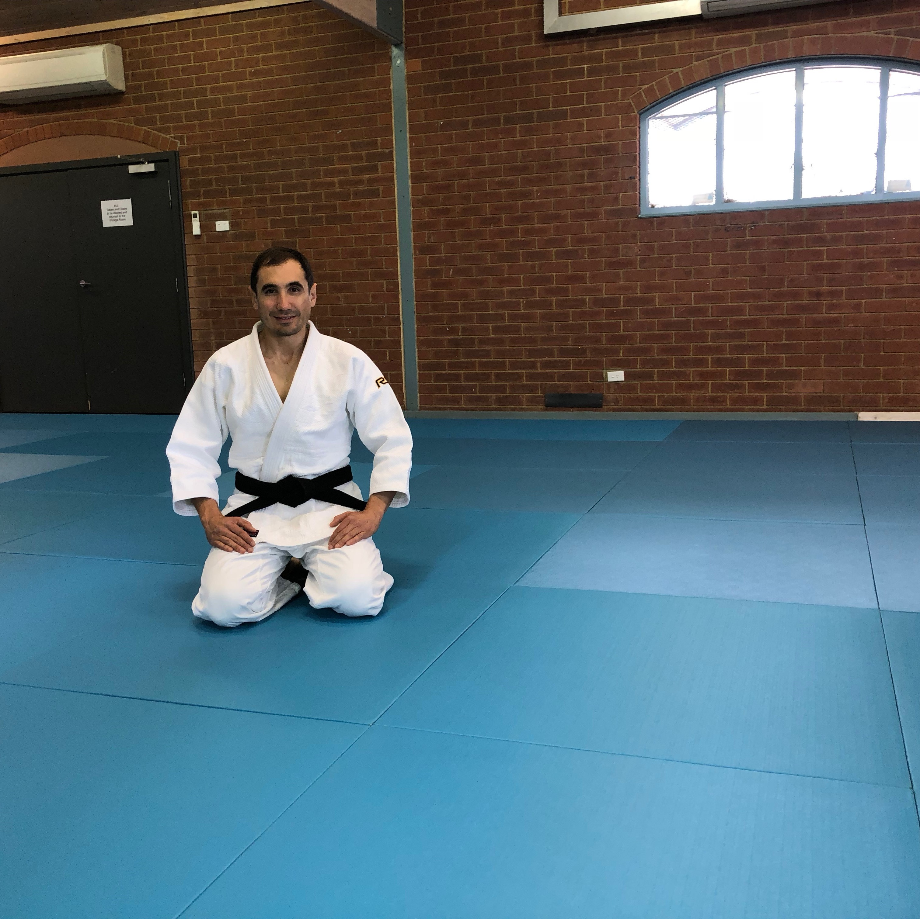 Trying out the tatami