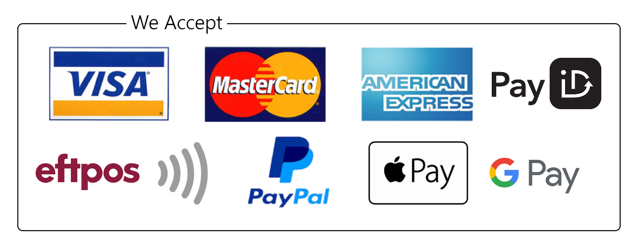 We accept Visa, Mastercard, American Express, apple pay, google pay and paypal